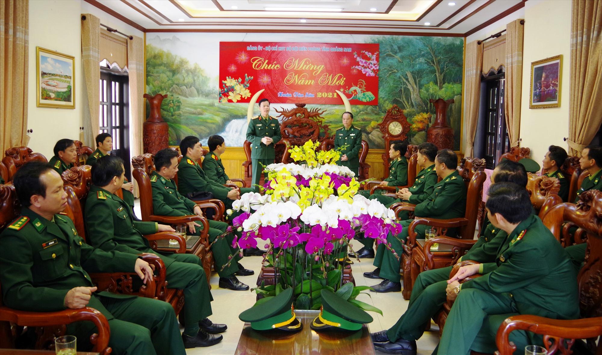 Trung tướng Nguyễn Trọng Bình – Phó Tổng Tham mưu trưởng QĐND Việt Nam phát biểu ghi nhận và đánh giá cao kết quả của BĐBP Quảng Nam.