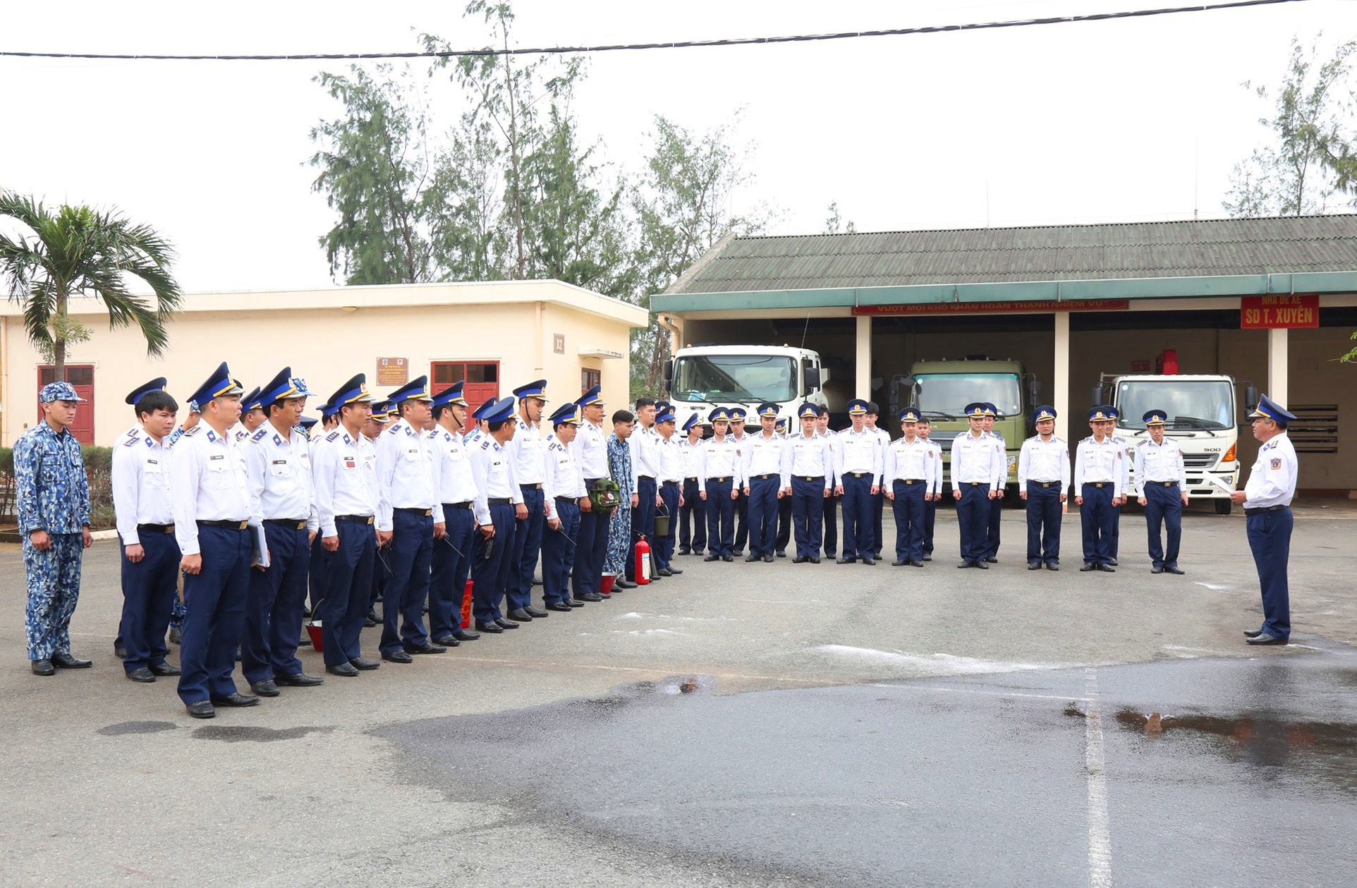 Kiểm tra công tác phòng chống cháy nổ tại Bộ tư lệnh Vùng Cảnh sát biển 2