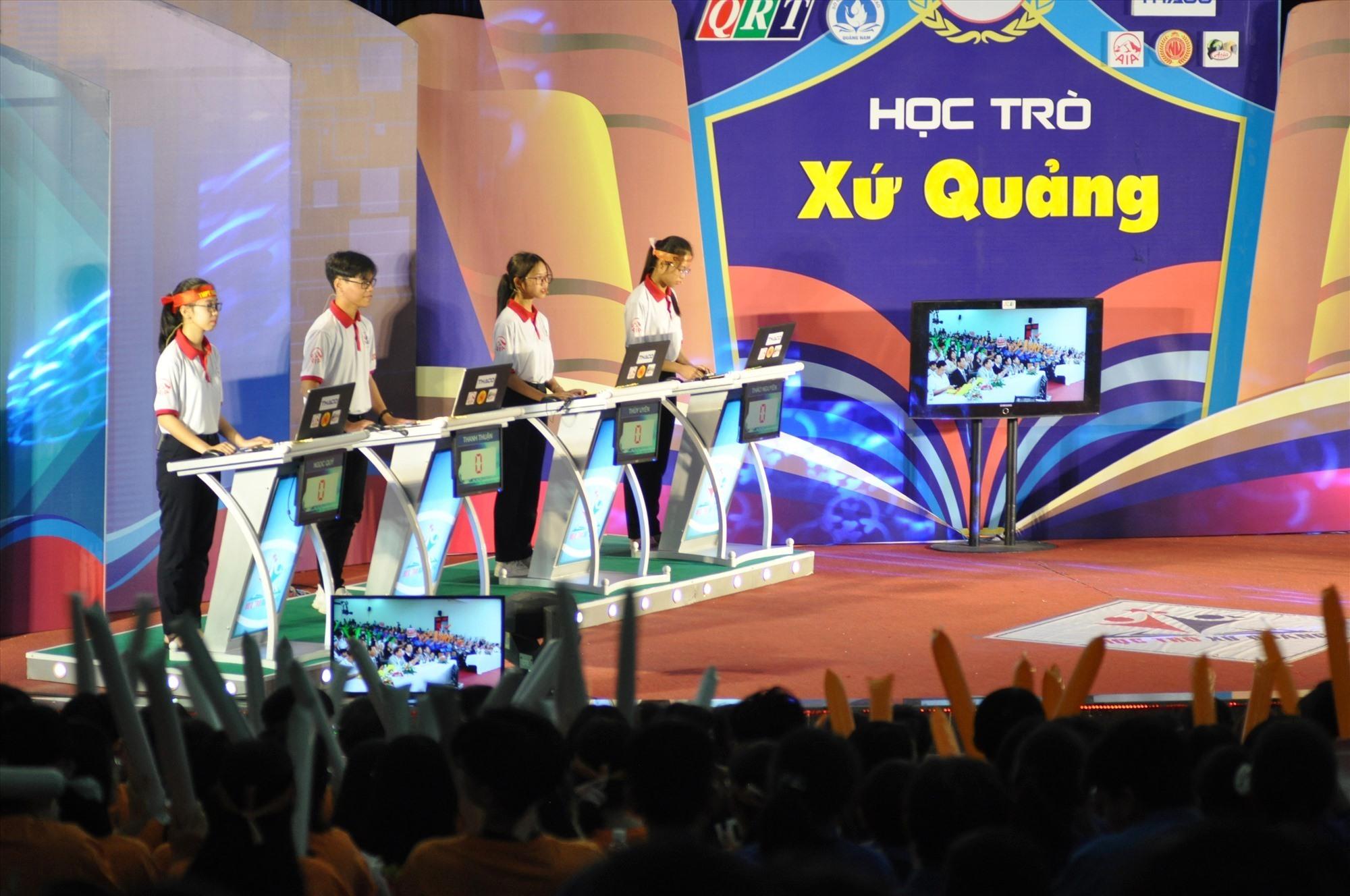 Cả 4 thí sinh dự thi đầu tiên của Học trò xứ Quảng năm 2021 đã có màn thi tài xuất sắc. Ảnh: X.P