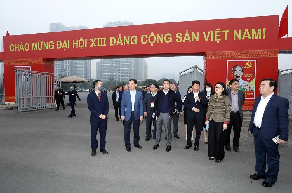 Trung tâm Hội nghị quốc gia, nơi diễn ra Đại hội Đảng XIII. Ảnh: TTXVN