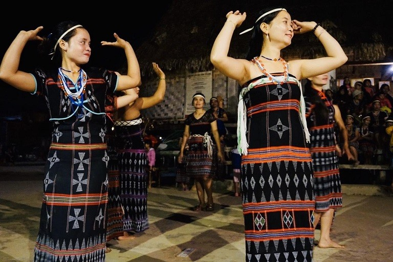 Public dance in Ta Lang community tourism village