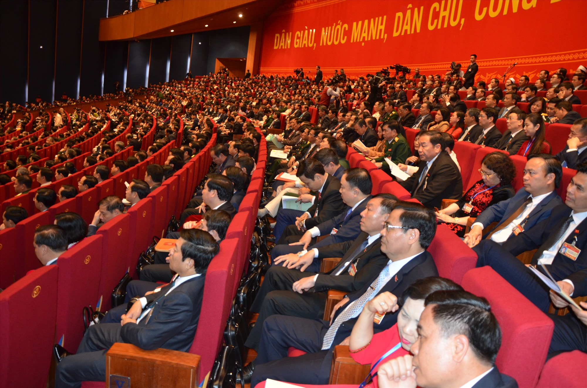 Các đại biểu dự Đại hội XIII của Đảng. Ảnh: H.P