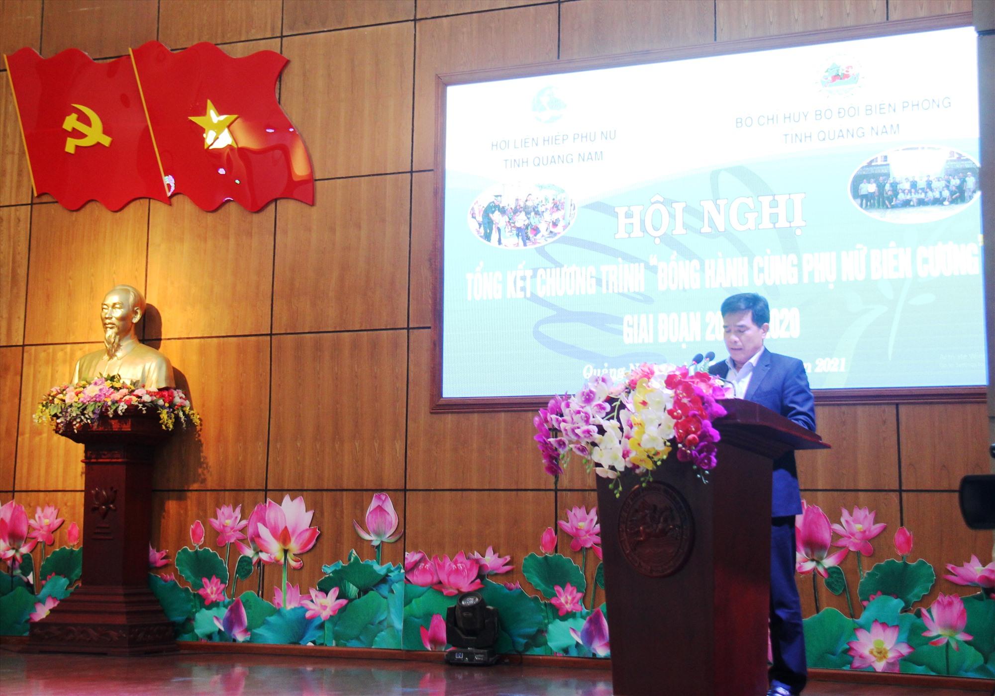 Phó Bí thư Thường trực Tỉnh ủy - Lê Văn Dũng phát biểu tại hội nghị. Ảnh: HOÀNG LIÊN