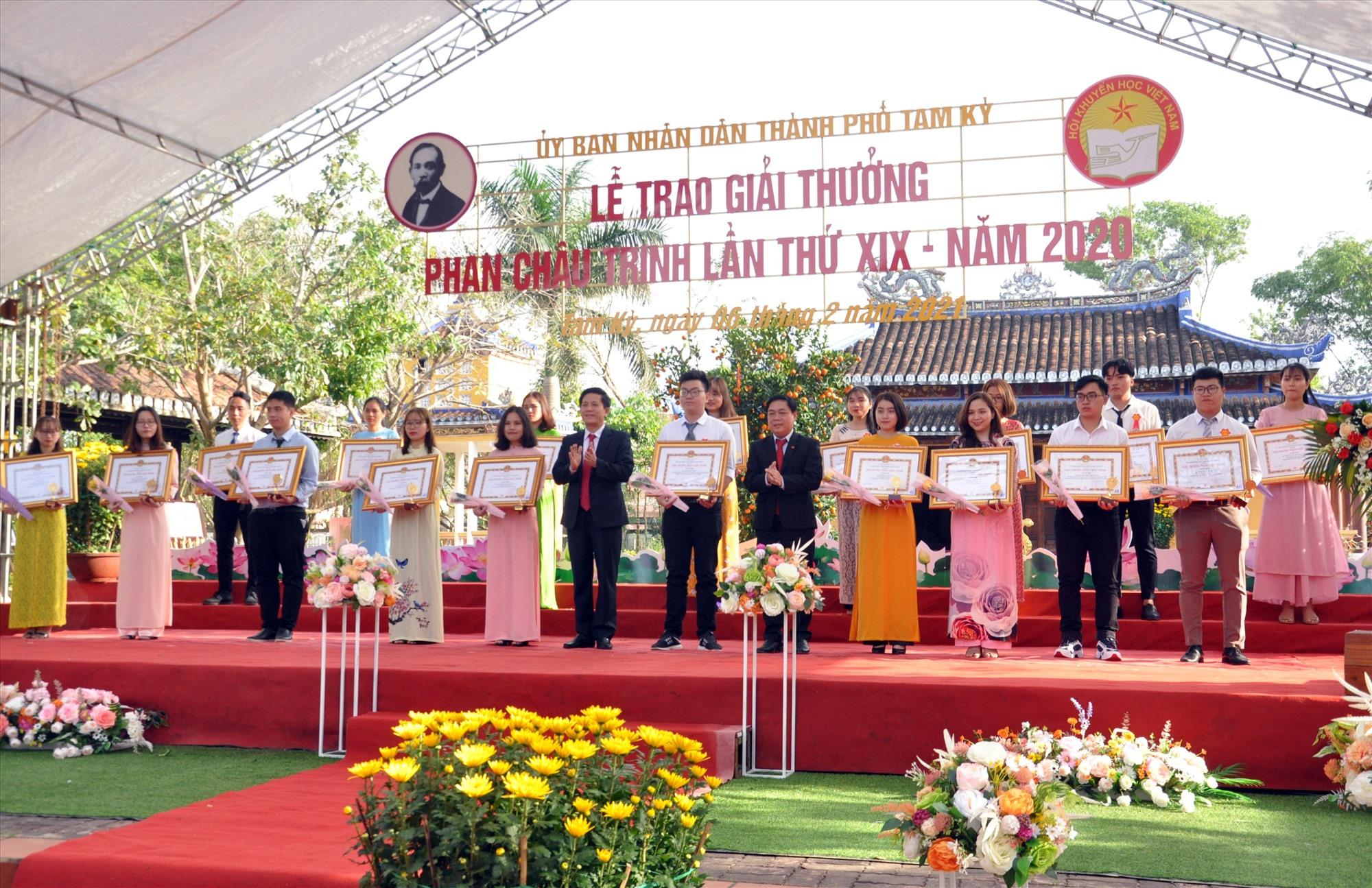 Tam Kỳ trao Giải thưởng Phan Châu Trinh lần thứ 19 vào dịp cận Tết Tân Sửu. Ảnh: X.P