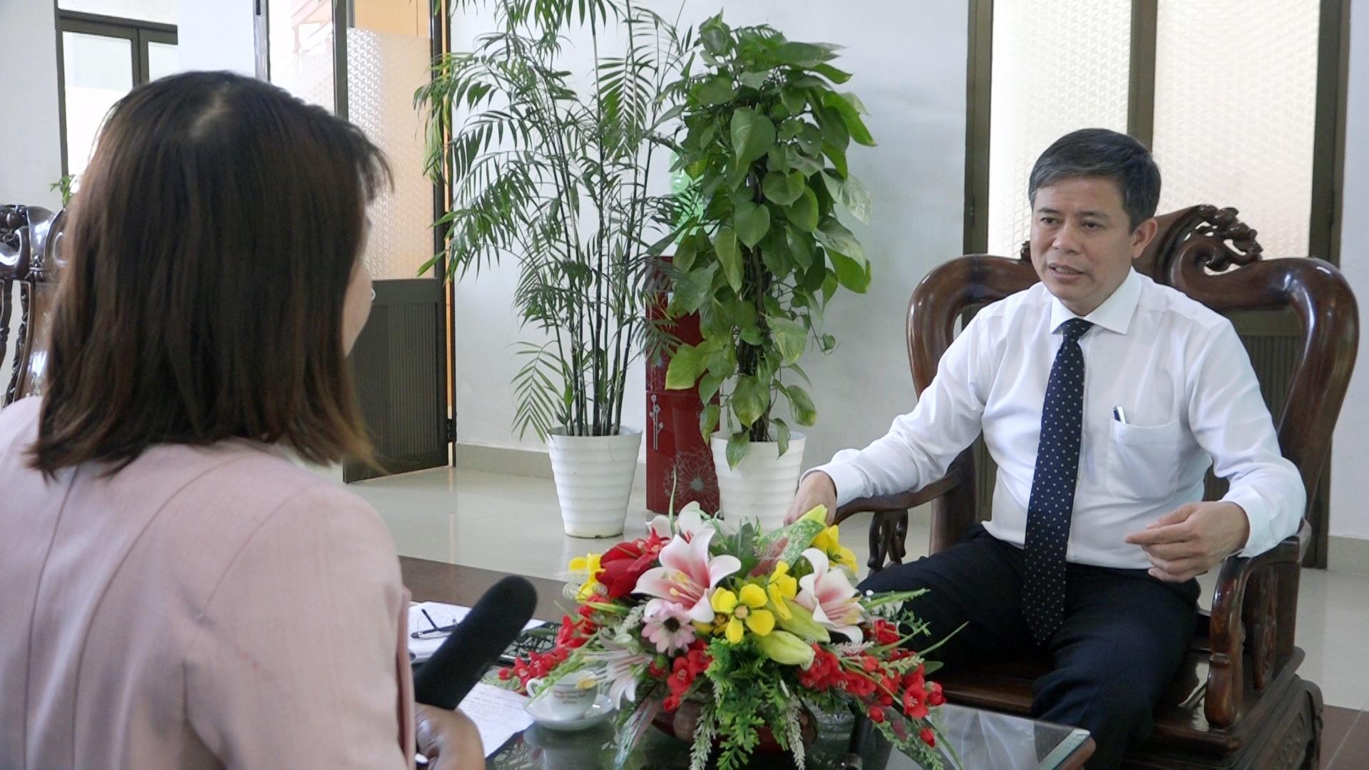 Chủ tịch UBND huyện Thăng Bình - Võ Văn Hùng cho biết, năm 2021 huyện quyết tâm thực hiện cải cách hành chính ở mức độ cao hơn. Ảnh: T.T
