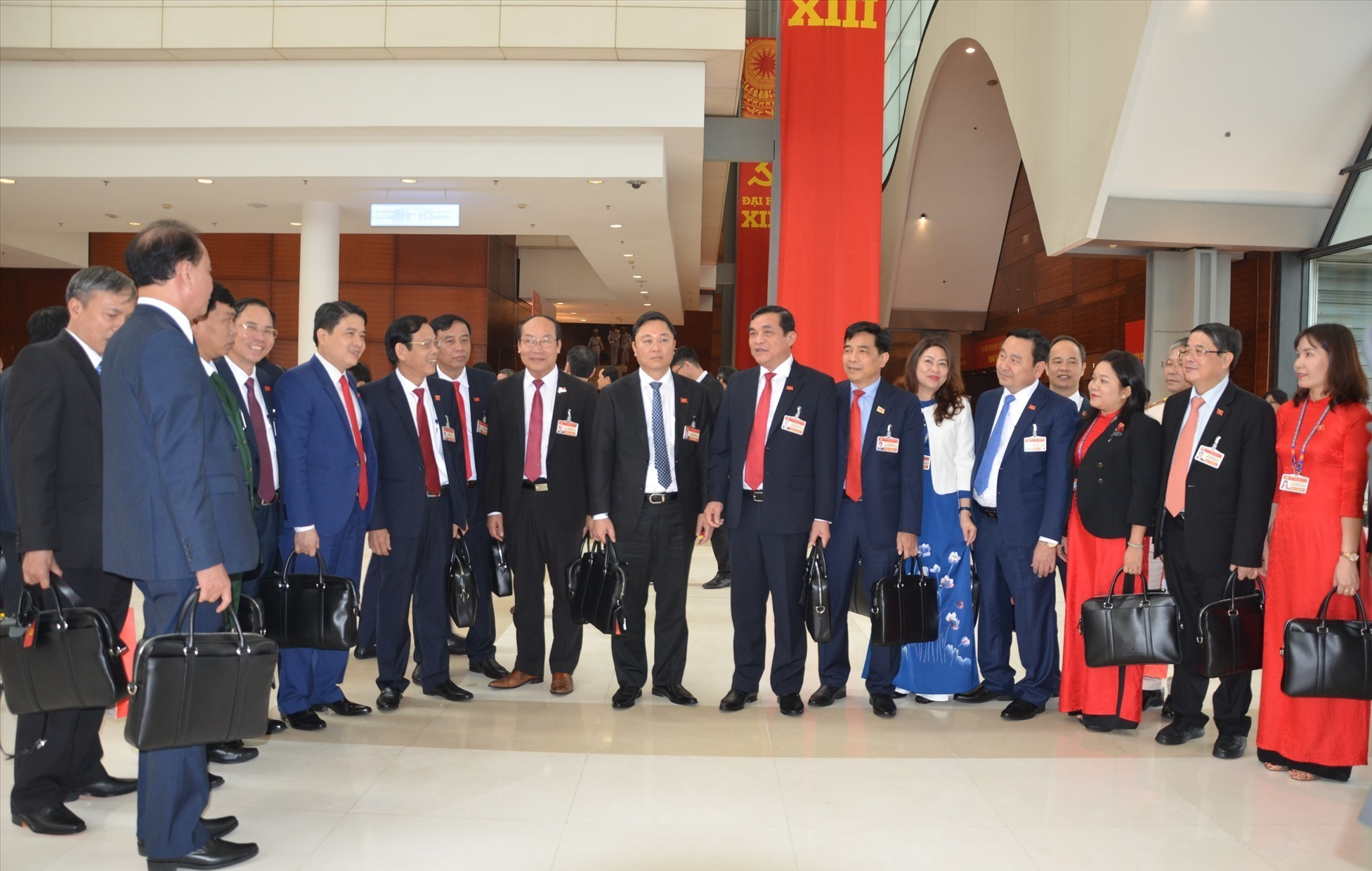Delegation of the Party Committee of Quang Nam province at the National Conference Centre, where the 13th National Congress of the Communist Party of Vietnam takes place