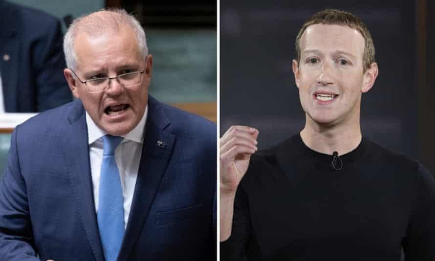 Thủ tướng Australia Morrison (trái) và ông chủ Facebook Mark Zuckerberg. Ảnh: casino.org
