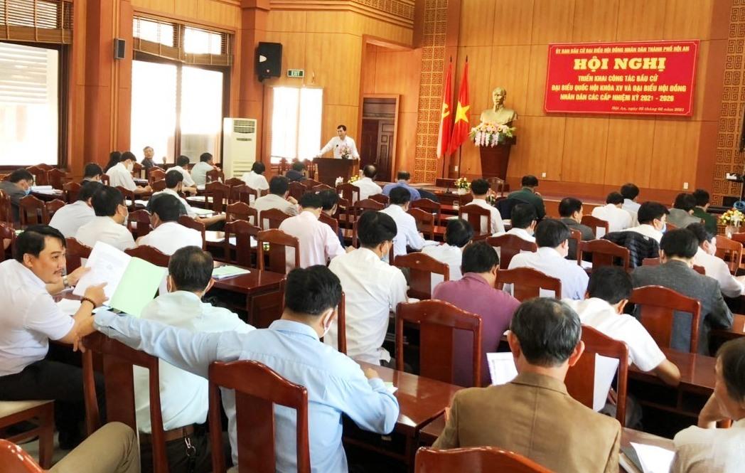 Hội nghị triển khai công tác bầu cử đại biểu Quốc hội khóa XV và đại biểu HĐND thành phố, xã - phường nhiệm kỳ 2021-2026.