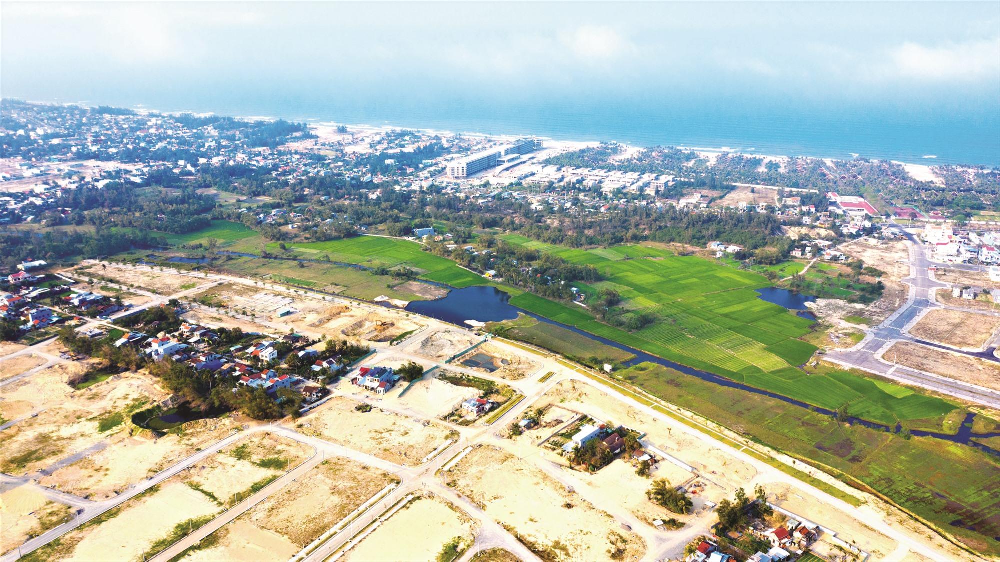 Một dự án chuỗi đô thị ven sông Cổ Cò do An Dương làm chủ đầu tư nhìn từ trên cao. Ảnh: T.C.T