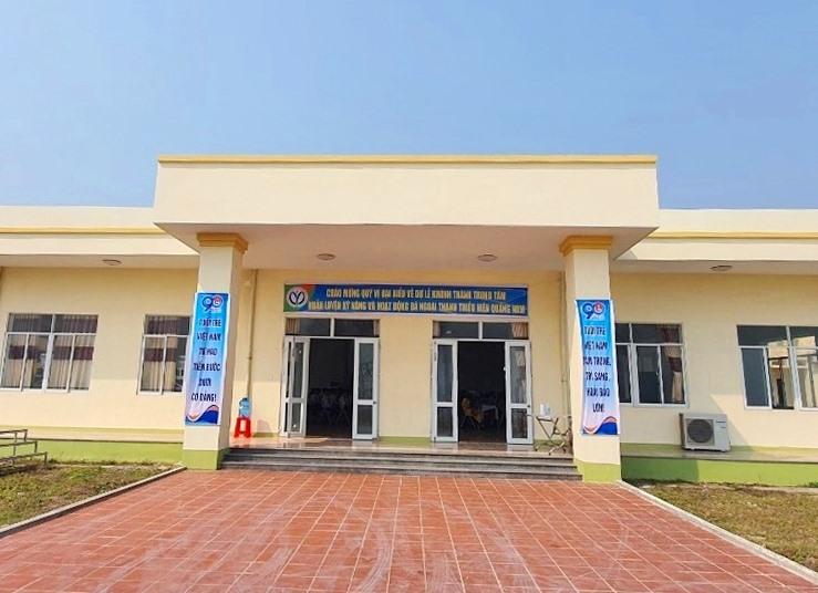 Một trong những hạng mục tại Trung tâm Huấn luyện kỹ năng và sinh hoạt dã ngoại thanh thiếu niên Quảng Nam. Ảnh: THÀNH ĐẠT