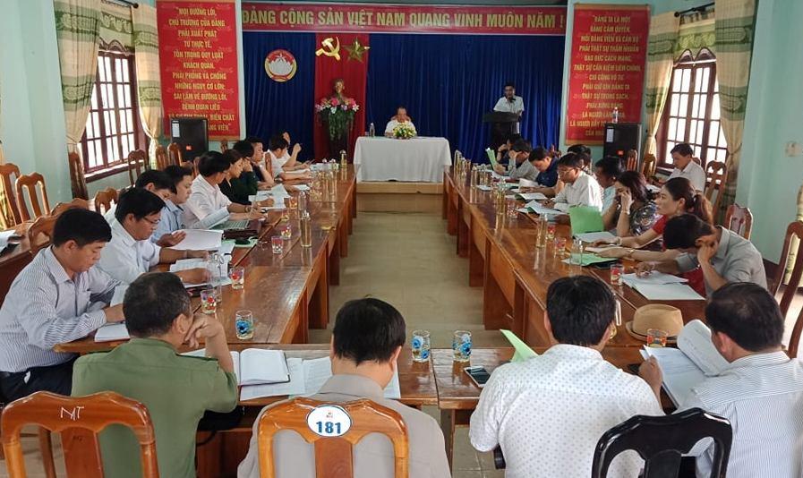 Hội nghị quán triệt giới thiệu người ứng cử đại biểu HĐND huyện Tây Giang khóa XII, nhiệm kỳ 2021-2026