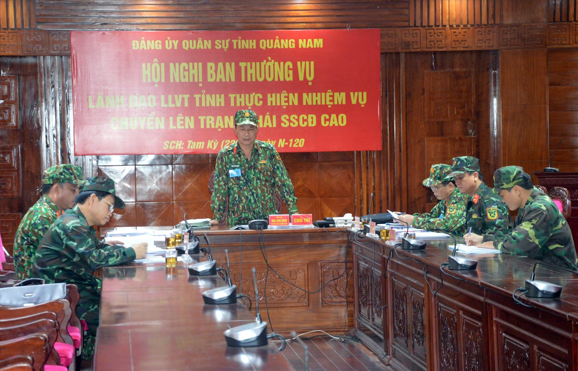 Bộ CHQS tỉnh luyện tập chuyển trạng thái sẵn sàng chiến đấu.