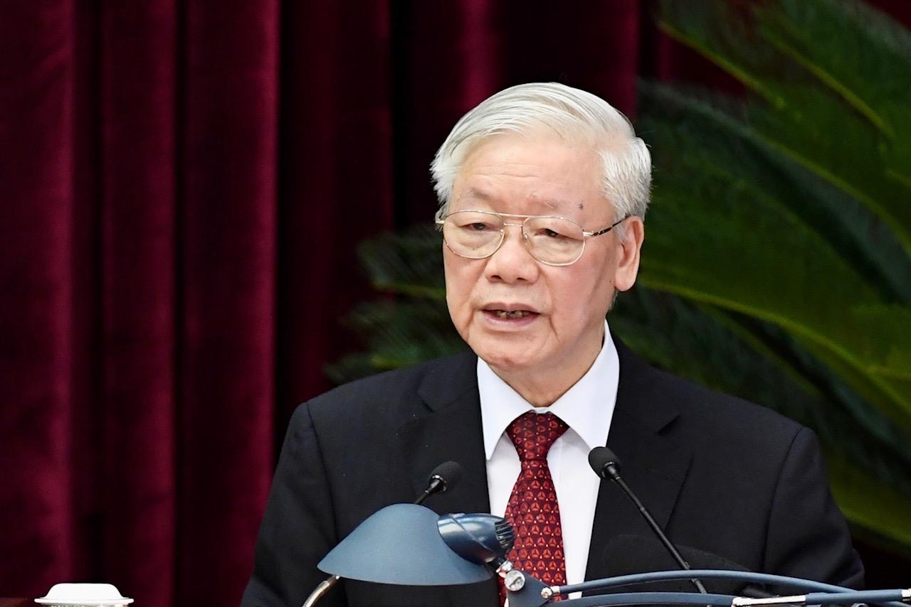 Tổng Bí thư, Chủ tịch nước Nguyễn Phú Trọng phát biểu bế mạc Hội nghị Trung ương 2