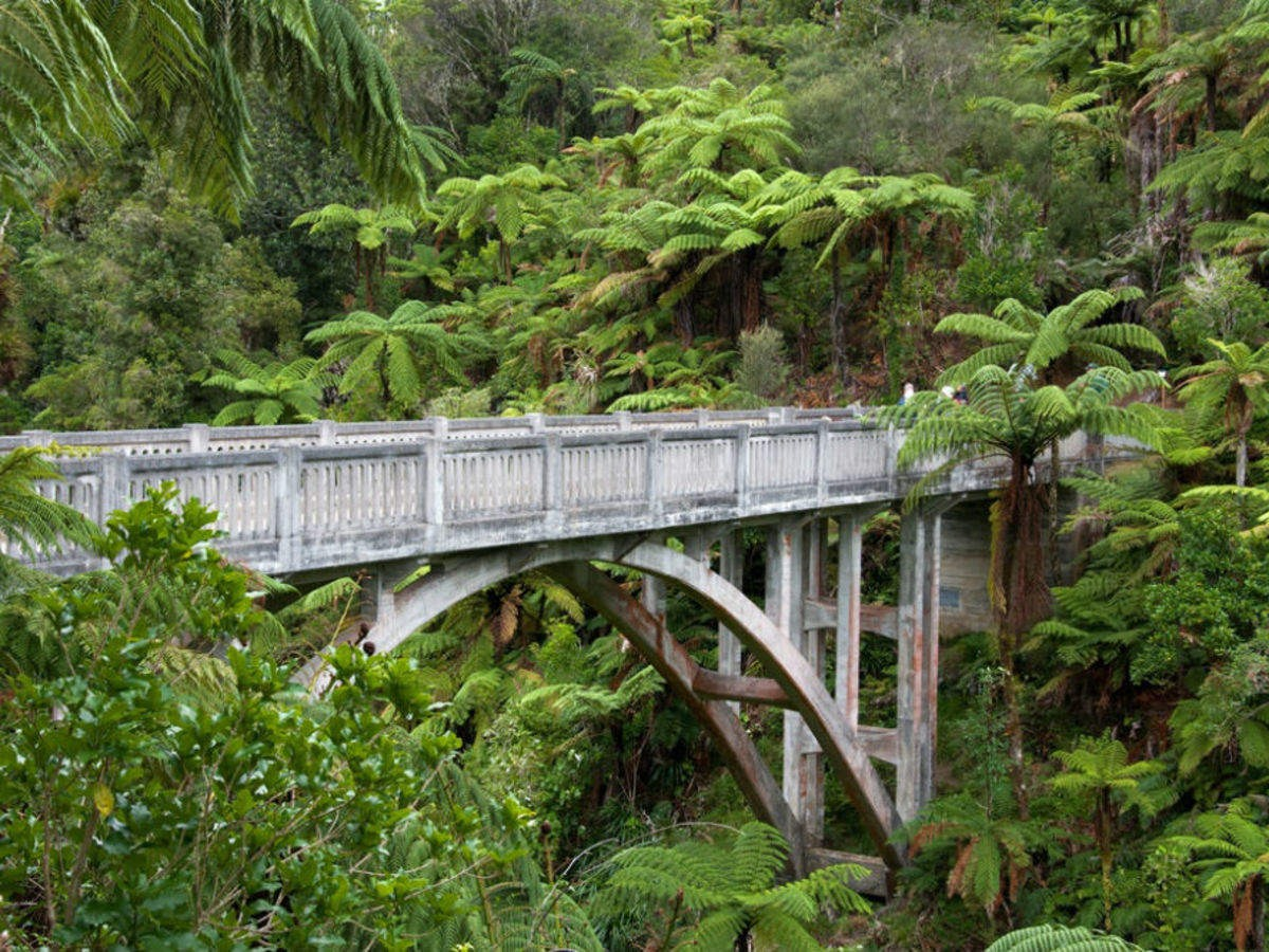 Bridge To Nowhere is in Whanganui National Park of New Zealand. It was built in 1936 without any path to the bridge; so, it was abandoned then but has recently become a tourist attraction.