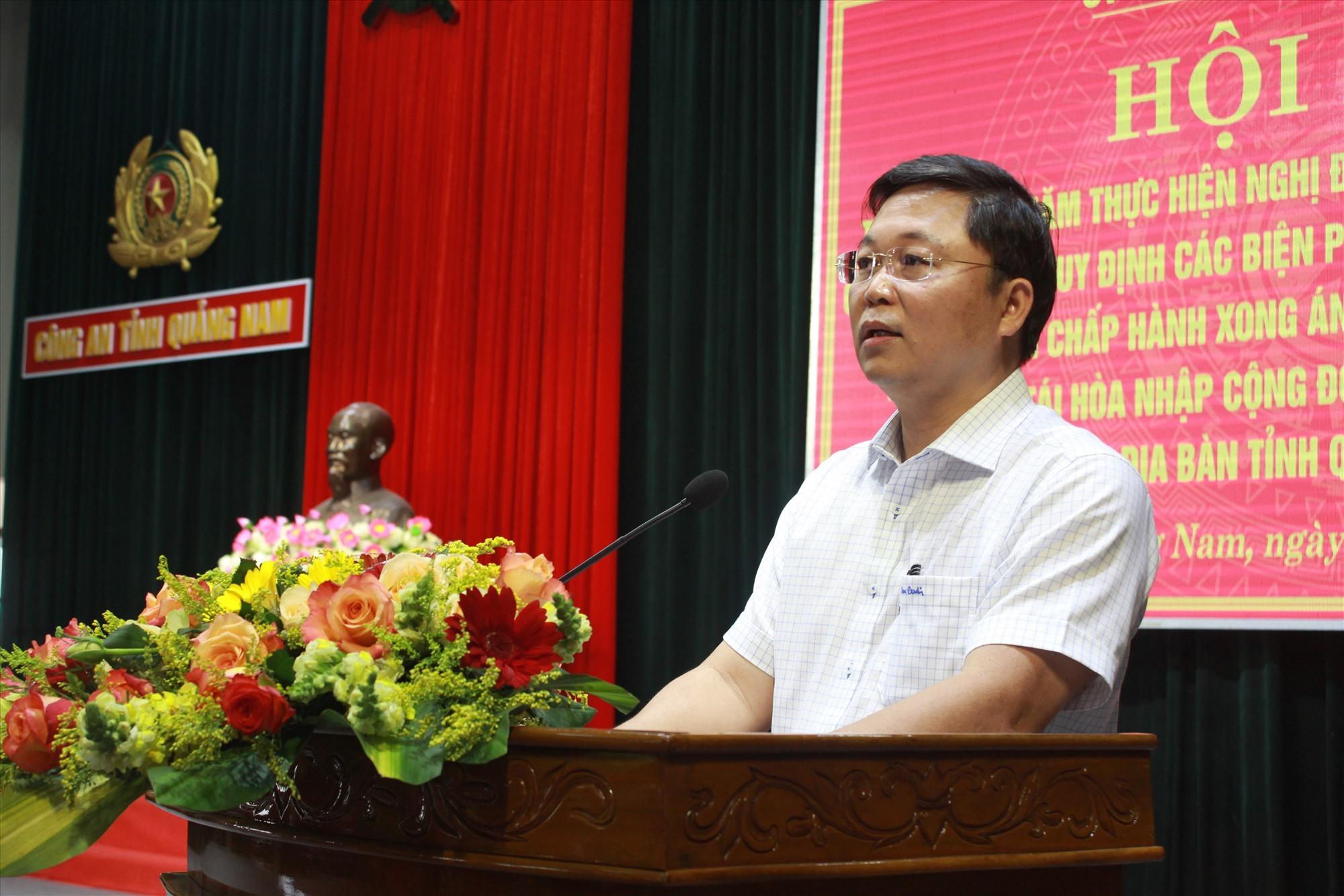 Chủ tịch UBND tỉnh Lê Trí Thanh phát biểu tại hội nghị. Ảnh: T.C