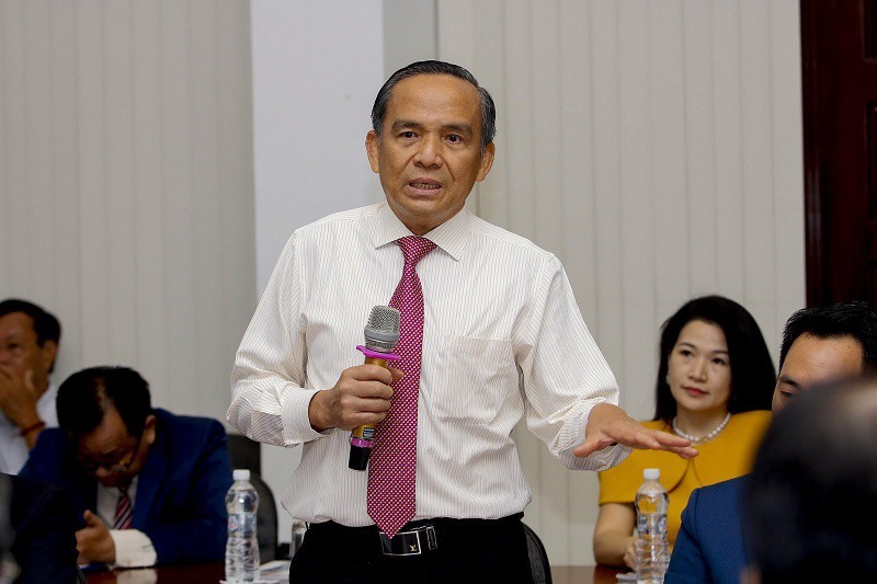 Mr. Le Hoang Chau, Chairman of Ho Chi Minh City Real Estate Association at the event. Photo: plo.vn
