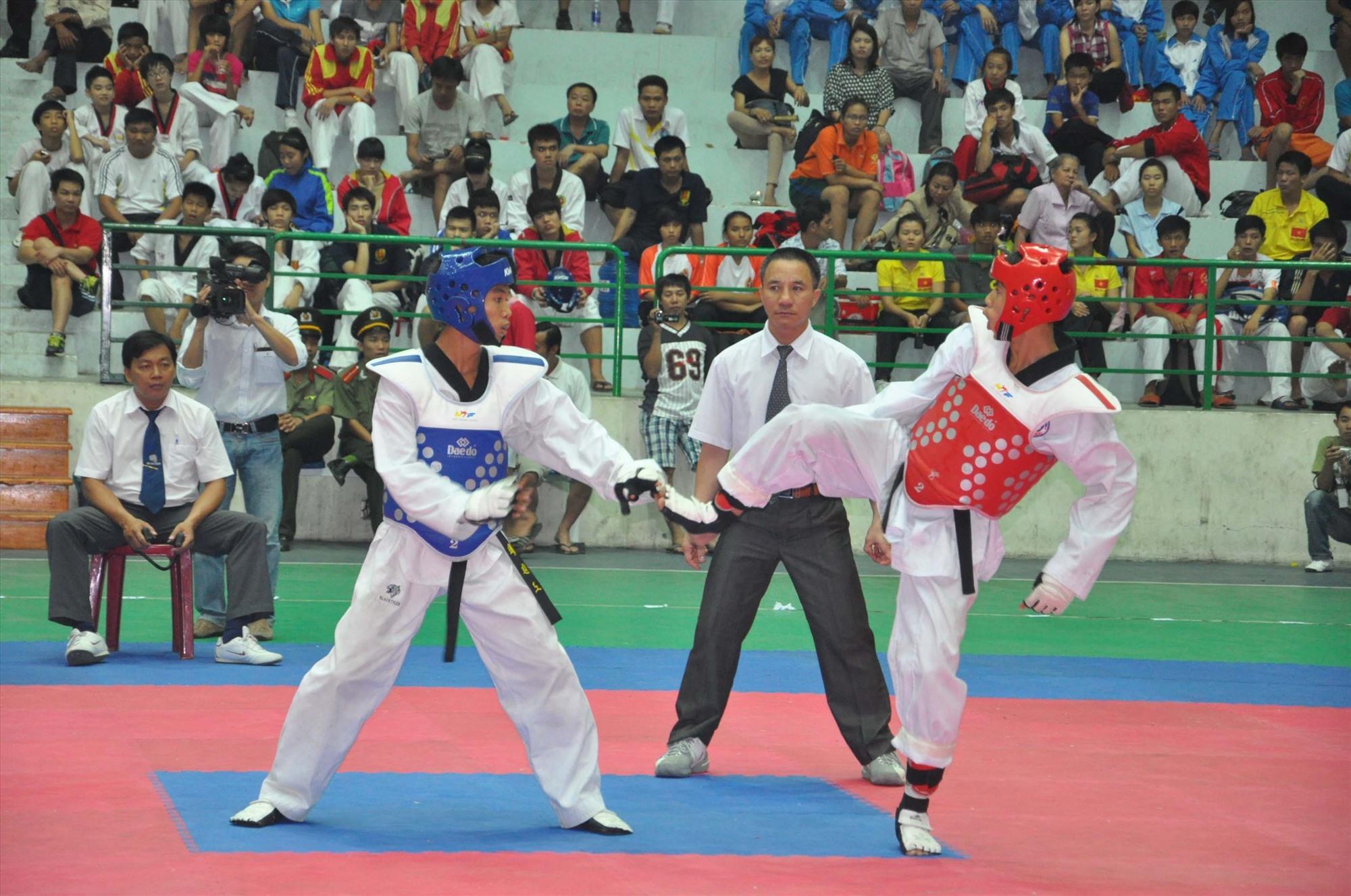 Giải vô địch Taekwondo toàn quốc năm 2015 diễn ra tại Quảng Nam. Ảnh: T.VY