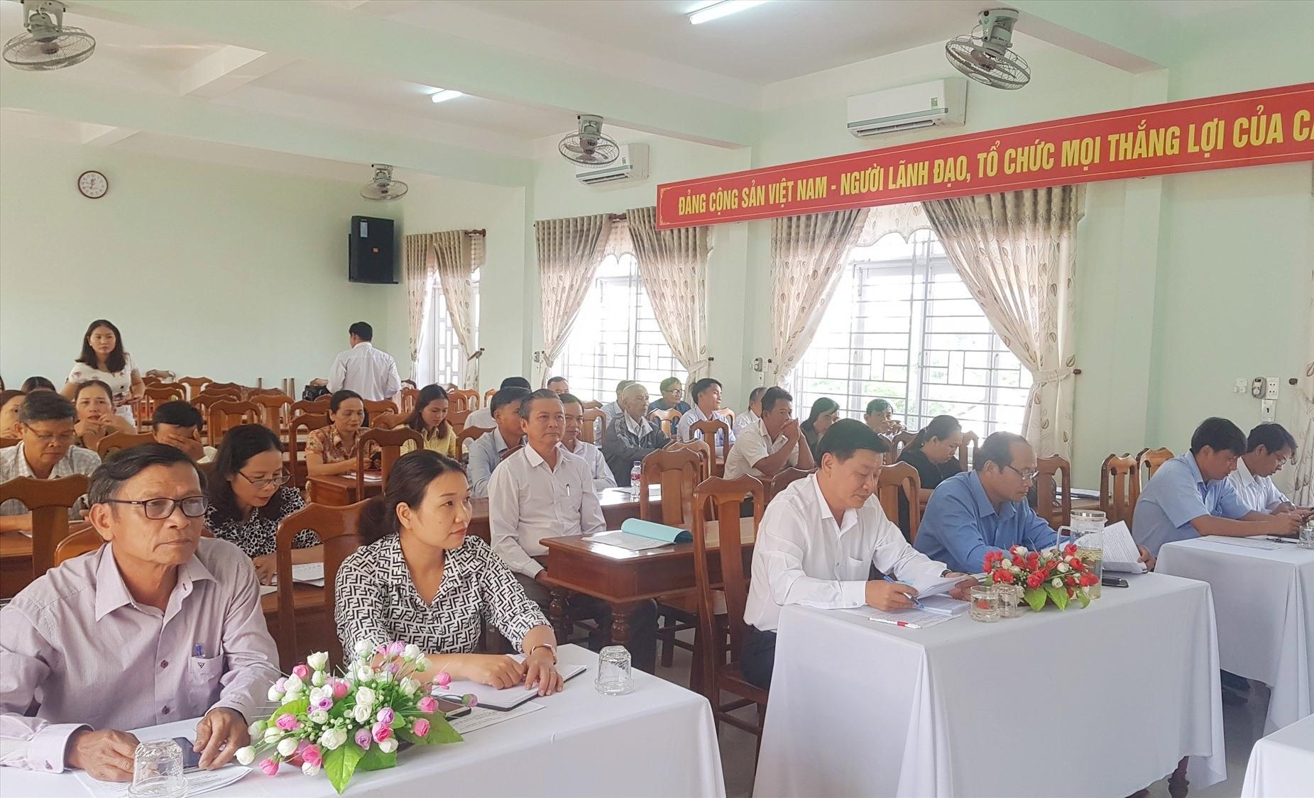 """Ủy ban MTTQ Việt Nam huyện Tiên Phước sơ kết phong trào thi đua """"Đoàn kết sáng tạo"""" vào sáng nay."""