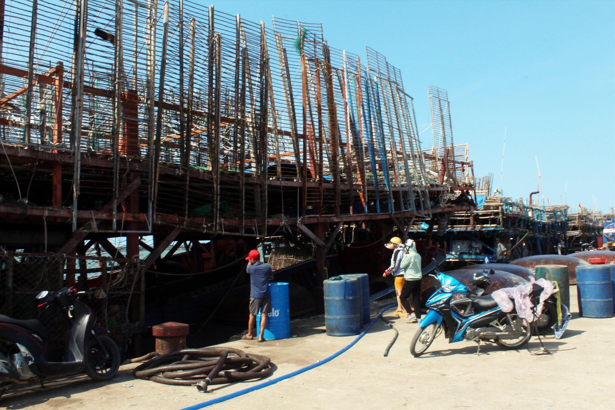 Cập cảng An Hòa sau chuyển biển đầu năm. Ảnh: VĂN PHIN