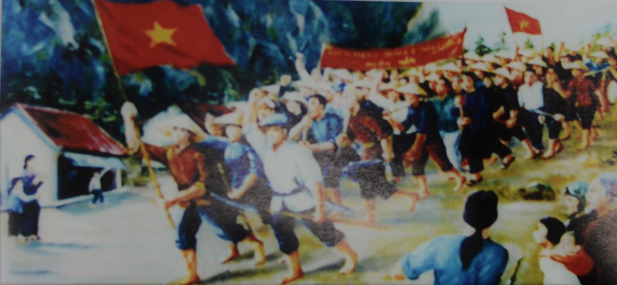 Nhân dân Quảng Nam xuống đường năm 1945 (Ảnh tư liệu)