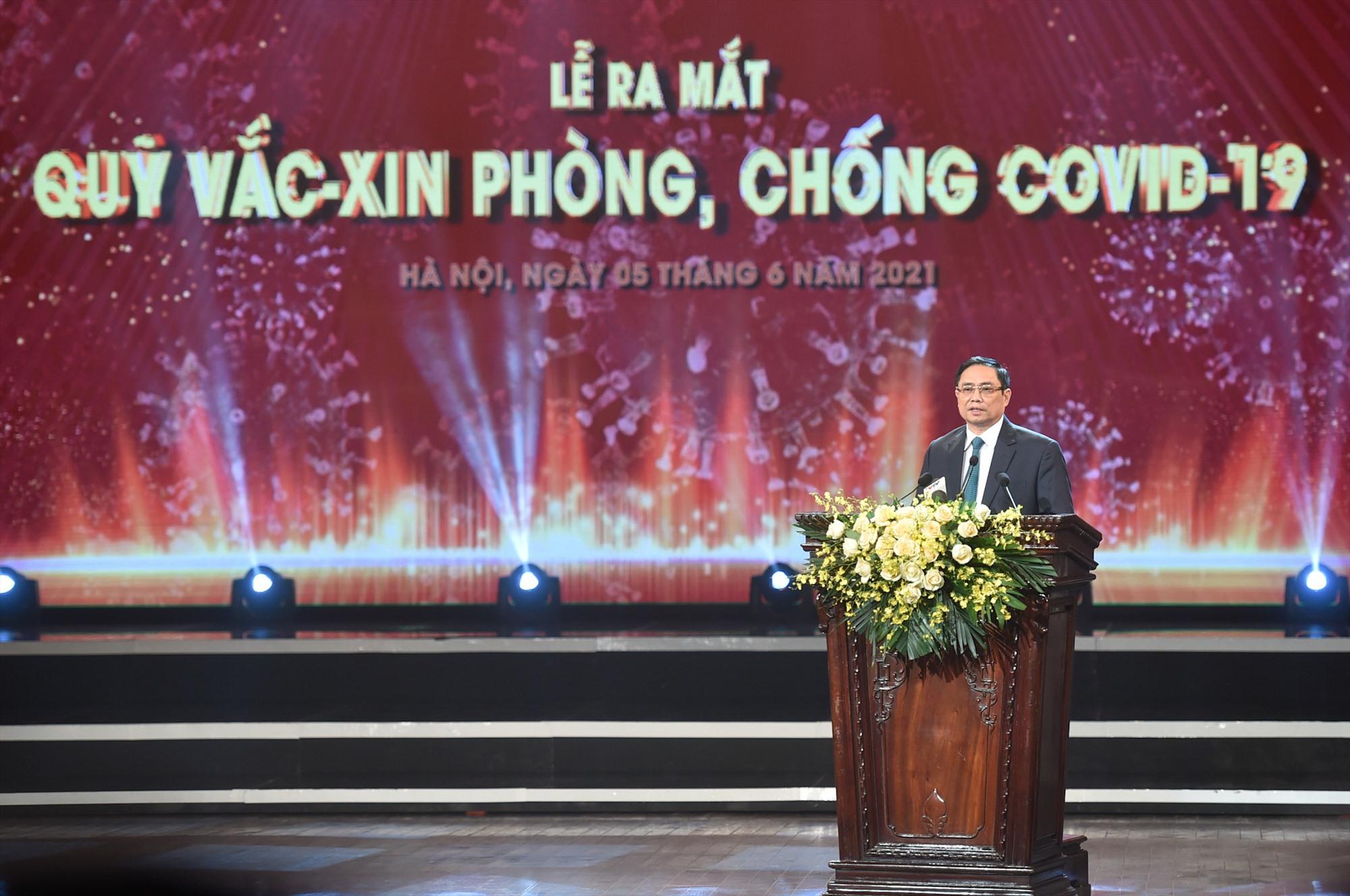 Thủ tướng Phạm Minh Chính: Sự đồng lòng của nhân dân là chìa khóa mở cánh cửa lớn để chúng ta thoát ra khỏi đại dịch và trở về cuộc sống bình thường, bình yên, an dân, an toàn. Ảnh: VGP