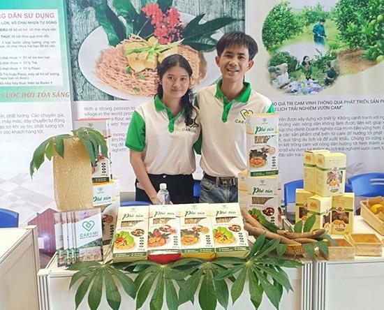 Sản phẩm phở Caromi tham dự Techfest 2018 tại Đà Nẵng. Ảnh: NVCC