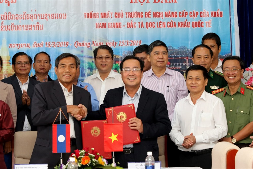 Leaders of Quang Nam and Sekong agree to upgrade Nam Giang- Dac Ta Ooc border gate.