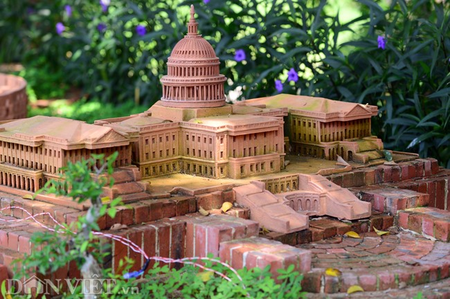 The United States capitol is given a place in the park.