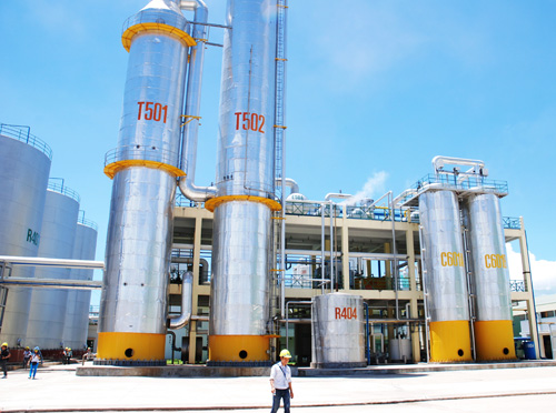 Nhà máy sản xuất cồn của Công ty CP Đồng Xanh.