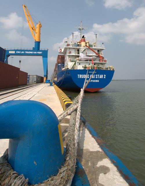 Được xây dựng theo kết cấu bến liền bờ, công nghệ cừ larsen tiên tiến đang được sử dụng rất phổ biến tại các quốc gia trên thế giới như Hồng Kông, Đài Loan, Singapore và lần đầu tiên được ứng dụng ở Việt Nam.