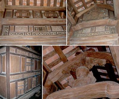 Một số chi tiết chạm trổ của thợ Văn Hà tại nhà cổ cụ Nguyễn Huỳnh Anh.