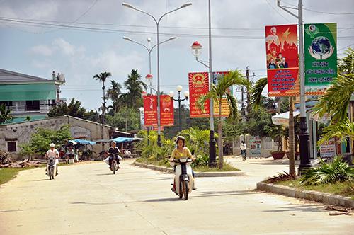 Diện mạo nông thôn mới ở Điện Phong.Ảnh: VINH ANH