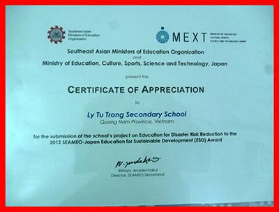 Giấy chứng nhận của Bộ trưởng Giáo dục ASEAN.