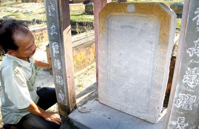 Mộ Thủy soái Chưởng vệ đại tướng quân Phạm Quang Trận được dời về nghĩa trang gia tộc.