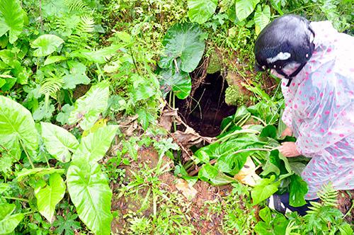 Dấu tích đoạn hầm của Lò chén Phú Lâm cũ.
