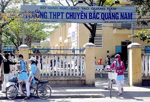 Trường THPT chuyên Bắc Quảng Nam đang học tạm tại trường THPT Trần Quý Cáp.Ảnh: T.X.P