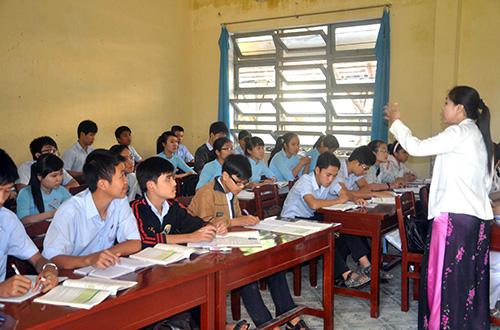 Giờ học của học sinh trường THPT chuyên Bắc Quảng Nam.