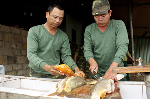 """Tất bật chuẩn bị thực phẩm """"cây nhà, lá vườn"""" để đón giao thừa Xuân Quý Tỵ 2013."""