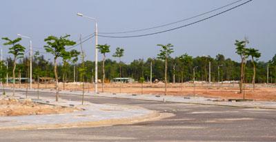 Khu dân cư dọc đường An Hà - Quảng Phú được đầu tư khá bài bản về hạ tầng.Ảnh: H.P