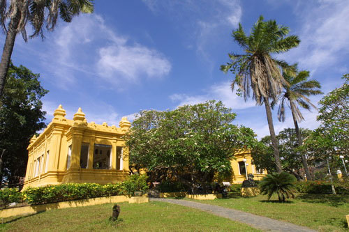 The landscape of Champa Museum.