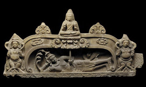 The birth of Brahma.
