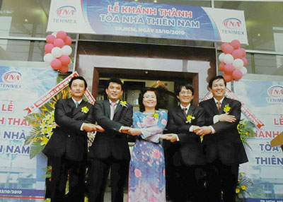 Mr. Ngo Huu Hoan at the inauguration of the building Thien Nam