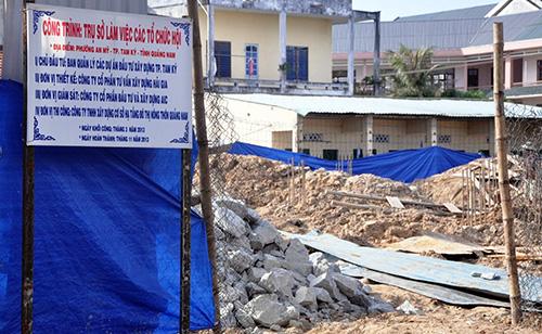 Trụ sở làm việc của các tổ chức hội đang xây dựng tại Khu dân cư số 1.Ảnh: B.HẠNH