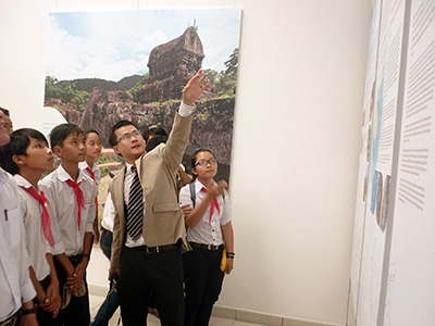 Tourists sight seeing the exhibition.