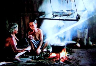 Bếp của gia đình bà Zơrâm Thị Nhá, người Triêng thôn Đắk Ôốc, xã La Dêê (Nam Giang).
