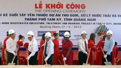 The ground breaking ceremony of Tay Yen project.