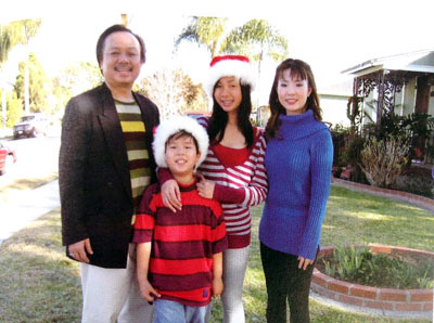 Thanh with his family.