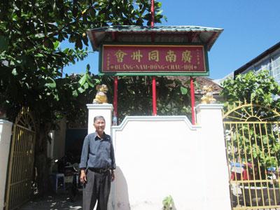 Hội trưởng Võ Văn Hùng trước Quảng Nam đồng châu hội.  Ảnh: H.CÁN