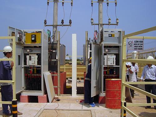 Công ty Tân Bình thi công xây lắp trạm biến áp cấp điện cho nhà máy lắp ráp ô tô của Công ty Ô tô Chu Lai - Trường Hải.
