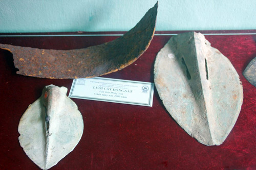 Copper and iron ploughshares of Dong Son civilization – around 2,00o years ago.
